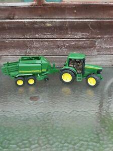 Bruder John Deere Tractor 6920 And Hey Baler 690