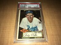 Andy Pafko Brooklyn Dodgers 1952 Topps Black Back Card #1 PSA 1 PR (MK)