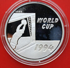 "Laos: 50 Kip 1991 Silver, Proof-Pp, Km#47, "" World Cup 1994 "", #F 1281"