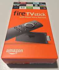 AMAZON FIRE TV STICK STREAMING MEDIA PLAYER WITH ALEXA VOICE REMOTE - GEN2 (NIB)