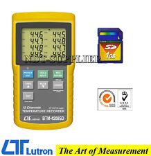 Brand New Lutron BTM-4208SD 12 Channels Temperature Recorder Data Logger