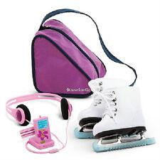 AMERICAN GIRL Doll MIA Mia's White SKATES Music Player BAG +