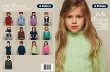 Patons Pattern Book #1307 Kids Classics 13 Designs for Kids 2-10 Years