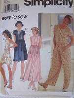 UNCUT Vintage Simplicity SEWING Pattern 7081 Misses Romper Dress Hat EASY OOP FF
