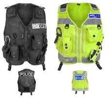 Niton Tactical Police Patrol Vest - Black / Hi-Vis Yellow