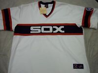 CARLTON FISK #72 CHICAGO WHITE SOX MAJESTIC JERSEY 75TH PATCH 4X FREE SHIPPING!