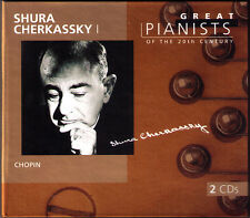 Shura CHERKASSKY 1 GREAT PIANISTS OF THE 20TH CENTURY 2CD Chopin Etudes Sonata 3