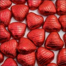 The Chocolate Factory Red Foiled Milk Chocolate Hearts - 100 Piece