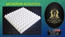"""Pyramid Acoustic Foam Studios Sound Absorption Wall Panels 96 Pack -1""""X 12""""X 12"""""""