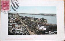 Halifax, Nova Scotia/NS, Canada 1912 Postcard: From Elevator Looking North