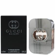 Gucci Guilty Platinum Eau de Toilette 75ml Spray For Her Women Femme EDP Perfume