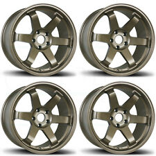 18x9.5 AVID1 AV-06 TE37 Style AV06 5x114.3 24 Bronze Wheels Rims Set(4)