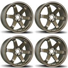 18x9.5 AVID1 AV-06 TE37 Style AV06 5x114.3 24 Bronze Wheel Rim set(4)