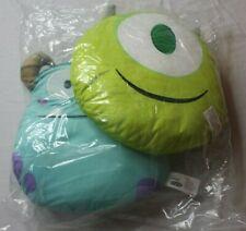 Disney Pixar Monster Inc Mike & Sully Emoji 2 Plush Pillows Bedding New