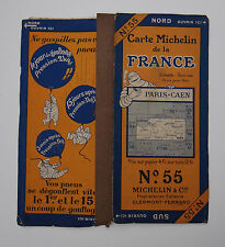 Carte MICHELIN old map FRANCE PARIS CAEN ROUEN 1927 pneumatici pneu tyre