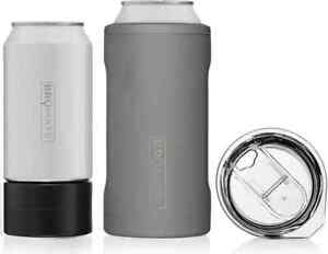 Hopsulator Trio 3-in-1 Stainless Steel Insulated Can Cooler, Matte Gray