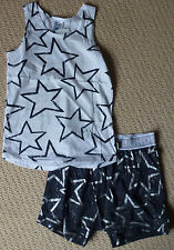 NWT Bonds Boys Christmas Star Summer Pyjamas Sleep Shorts Singlet Size 6