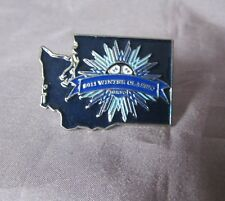SKING-2011 WINTER CLASSIC BLACK SILVER  BLUE ENAMEL LAPEL PIN 1 1/4""