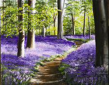 BLUEBELLS IN WOOD - BRITISH FLOWERS SERIES - MOUSE MAT / PAD