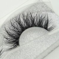 Natural Cross Long 100% Real 3D Mink Fur Eye Lashes Extension False Eyelashes LW
