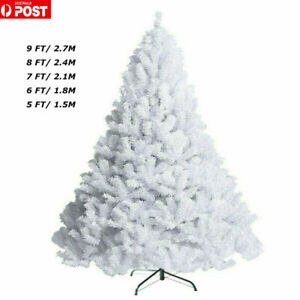 White Christmas Tree 5/6/7/8/9FT Lush Tips Metal Stand Easy Assembly for Sale