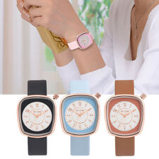Retro Fashion Ladies Dress Leather Band Women's Analog Gold Quartz Wrist Watches