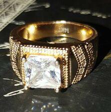 Vintage 14k Yellow Gold Men's Ring 10.3  grams Size 8 Diamond??