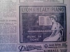 NOV 11, 1910 NEWSPAPER PAGE #4916- LYON & HEALY PIANO- PURE IN TONE