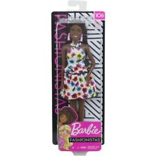 BARBIE Fashionistas African American Doll #106 Floral Dress  New 2019