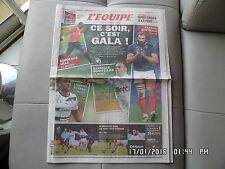 L'EQUIPE DU 27/11/2010 Moussa Sow sébastien Chabal Valbuena M'Vila  J55