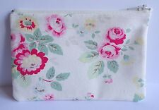 Cath Kidston Trailing Floral Fabric Handmade Lrg Zippy Coin Purse Storage Pouch