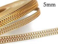 1 foot (30.5cm) x 5mm Brass Bezel Wire Crown Pattern - Brass Gallery wire