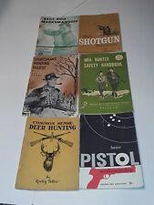 1950-1960 Vintage Sportsman Hunting Books ,Shotguns ,Rifles And Pistols Books