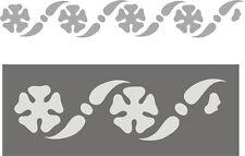 Schablone, Dekorschablone, Wandschablone, Malerschablone, Stencils, Blütenfries
