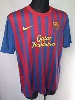 NIKE Dryfit Barcelona FCB Home Football Shirt Jersey 2011/2012 size XL