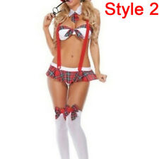 Girl Lingerie Nurse or Student Uniform Costume Suspender Halloween Cosplayc 2