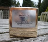 BNIB ESTEE LAUDER RE-NUTRIV Ultimate Lift Regenerating Youth Eye Creme Rich £125