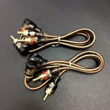 """2x 40cm 16"""" Car Home 2-RCA to 2Angle Head Gold Pl.  Audio / AV RCA Cable #gtn"""