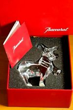 "Baccarat Reindeer figurine Noel Christmas 4.5"" With Box Crystal Collectable Gift"