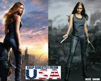 1/6 Shailene Woodley Moive Divergent Head Sculpt Clothing Set U.S.A. IN STOCK