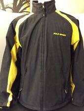 Vintage Polo Sport Reversible Jacket Black/Yellow Men's Size Large