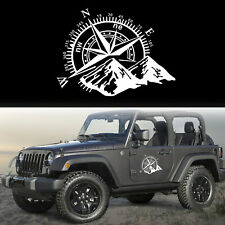 Reflective Silver Graphic Pre-Cut For Jeep Compass Rose Style Decoration Sticker