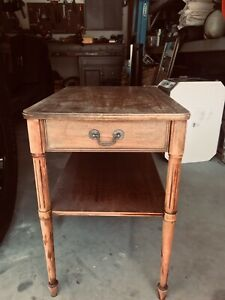 """1 MERSMAN Mahogany End Table / Side Table / Nightstand 1960""""s, 1 drawer 7453"""