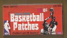 1974 Fleer Cloth Basketball Empty Unused Box Nice