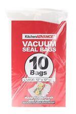 "Kitchen Advance Vacuum Seal 10 Bags Large: 12"" x 12""  Food Stays Fresh Longer"