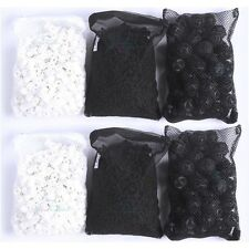 2 lb Active Carbon + 1000g Ceramic Rings + 100pcs Bio Balls for Aquarium Filter