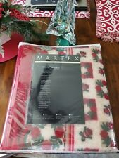 Vintage MARTEX Vellux Blanket Collection Twin PRiNTworks Christmas Vellux...