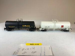 2X HO Atlas 17,600 Gallon Tank Cars, Liquid Sugars LSIX True-Sweet GATX MK-118