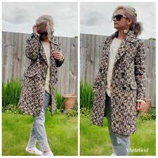 ZARA NEW WOMAN WOOL MASCULINE BROWN COAT SIZE S UK 8 10