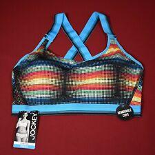 Jockey Sport Bra Crop Top Modern Fit Sporties Collection Size Medium Multi-Color